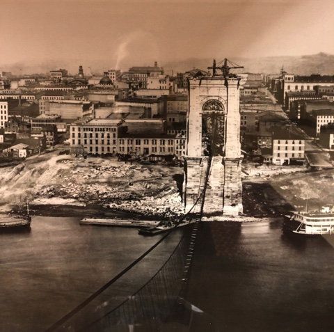 Bridge construction in Cincinnati 1860s