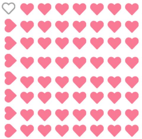 lots of little heartrs