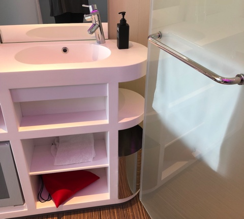 Paris hotel tiny sink