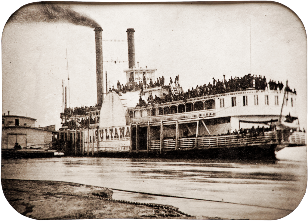 1865 photo of the steamship Sultana