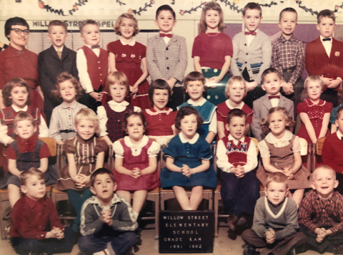 Kindergarten class portrait, Jule Kucera at center front