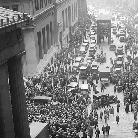 Wallstreet, 1929 market crash