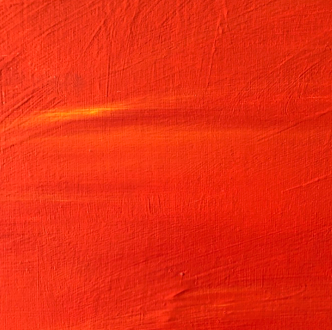 Square of orange paint