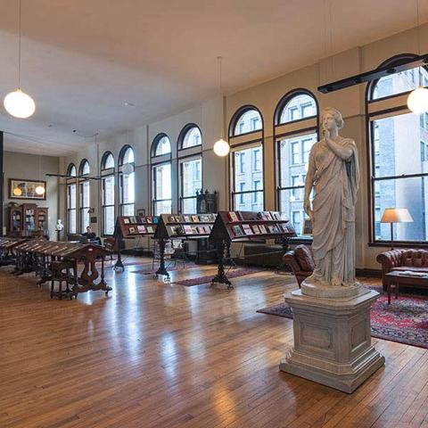 The Mercantile Library, Cincinnati Ohio, reading room