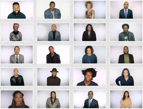 headshots of 25 Black celebrities, CNN reporters and anchors, and others