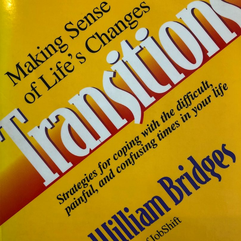 Yellow cover of Transitions by William Bridges, 1980 edition