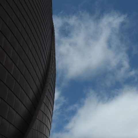 abstract sky and wall of building