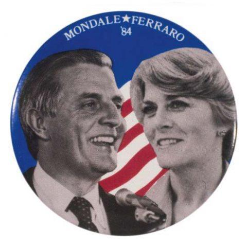 Button from the Mondale-Ferraro campaign