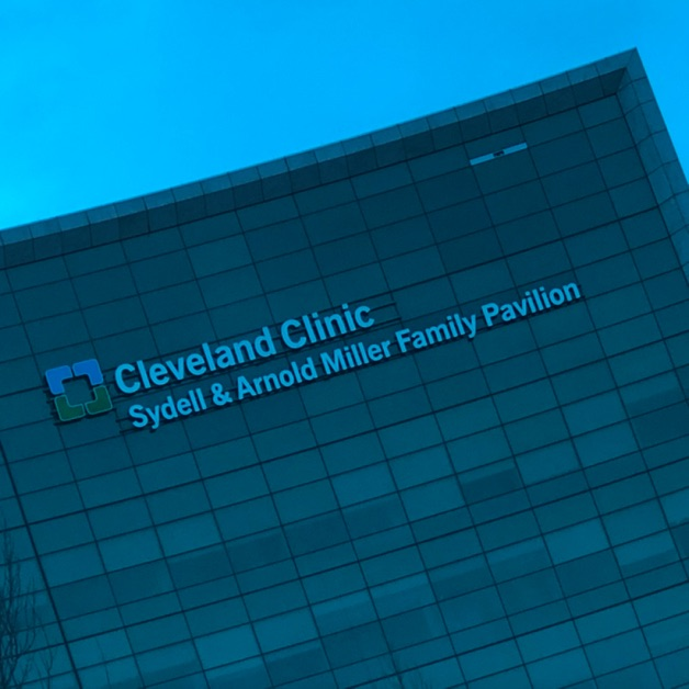 Facade of the Sydell & Arnold Miller Family Pavilion at the Cleveland Clinic