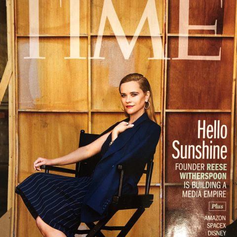 Reese Witherspoon on the cover of TIME magazine, featuring the 100 most influential companies